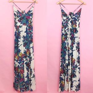 Free People Through The Vine Printed Dress Medium